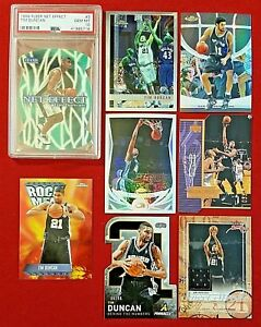 Panini Fleer UD Topps Chrome Tim Duncan Refractor Jersey Numbered PSA 10 Die-Cut