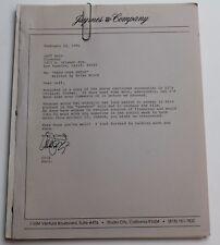 Head Over Heels * Unproduced Movie Script sent to Horror film Director Jeff Burr