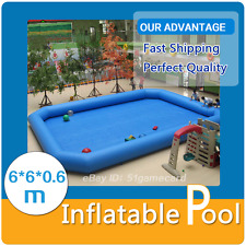 Inflatable Pool for Water Walking Ball Pool Zorb Ball Bumper Ball 6*6*0.6m PVC