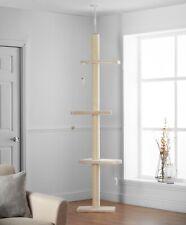 Pippa & Max's Cat Scratch Tree Floor to Ceiling 215cm-280cm (Cream)