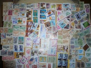 40 grams mixtures Peru stamps on single paper kiloware