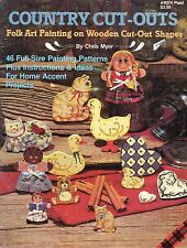 Country Cut-Outs Folk Art Painting Tole Book by Chris Myer
