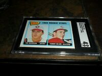 1965 O-PEE-CHEE OPC #243 REDS ROOKIE STARS / TOMMY JOHN WRONG BACK VG/EX SGC 4