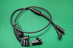 Garmin Motorcycle Bare Power Cable W/ Audio Out For GPSMAP 278 378 396 478 495