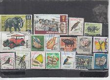 Schönes Lot Briefmarken aus Kenia gestempelt