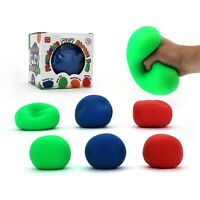 MOULDABLE SUPER CLAY STRESS BALL 10CM 1 PC ASSORTED COLOURS SHAPE STRETCH HOBBY