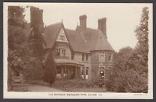 Postcard Luton Bedfordshire view of The Mansion at Wardown Park RP by Lilywhite