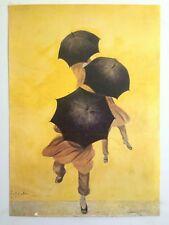 LEONETTO CAPPIELLO RARE VTG LITHOGRAPH PRINT PARIS POSTER PARAPLUIES REVELL 1922