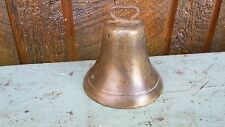 "Vintage Brass Horse Bell In Very Good Condition with 4"" Diameter Opening"