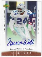 2006 UD LEGENDS EVERSON WALLS LEGENDARY SIGNATURES AUTO #85 DALLAS COWBOYS