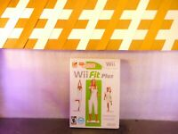 WII  Nintendo Wii Fit Plus Fitness Game WII