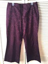 New York & Company Damask Ankle Dress Pants Women's 12