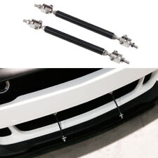 Universal Car Front Bumper Lip Splitter Rod Black Strut Tie Bar Support Kit JDM