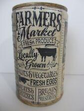 Altered Tin Can Vintage Country Farmer's Market  Farmhouse Decor Rustic