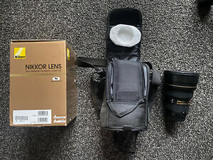 USED Nikon Zoom-Nikkor 14-24mm f/2.8 AF-S G ED IF VR Lens. I even found the box