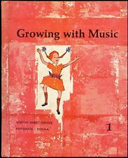 1963 GROWING WITH MUSIC BOOK 1 SCHOOL MUSIC CLASS SONG BOOK  PRENTICE-HALL HB VG