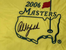 PHIL MICKELSON Signed Authentic 2006 Masters Flag COA- JSA Full Letter
