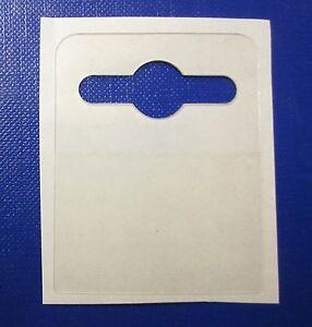 100 Self Adhesive Large 42mm x 52mm Hang Tab, Euro, Slot ,Hook, Hanging Tads