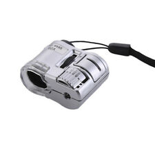 60X Lens LED Pocket Microscope Loupe Jewelry Currency Mini Dectector Magnifier
