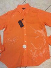 Ralph Lauren Casual L/S Shirt Mens S Polo Orange Swordfish w/Pony NWT $125
