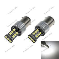 2X White 1156  Ba15s 15 SMD 2835 LED 12-24V Canbus Error Free Rear Light D086