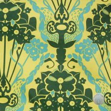 Anna Maria Horner Drawing Room Nouveau Bouquet Green Cotton Fabric by the Bolt