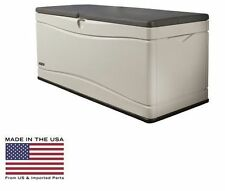 Storage Deck Box Outdoor Container Bin Chest Patio Lifetime 130 Gallon Bench New