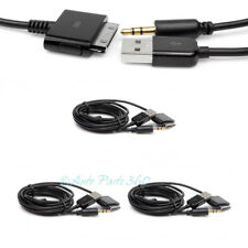 3X 4FT USB 3.5MM AUX AUDIO SYNC CHARGER BLACK CABLE IPHONE 4S 4 3GS 3G IPOD IPAD
