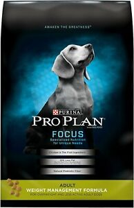Purina Pro Plan FOCUS Weight Management Formula Adult Dry Dog Food - NEW