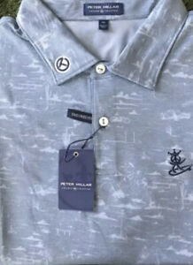 NWT SCOTTY CAMERON GALLERY Peace Surfer Polo Motorcycle Ace Blue XL Pique Golf