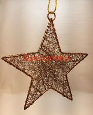Crate and Barrel Christmas Ornament Copper Tinsel Star Metallic NEW