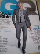 April 2012 GQ John Slattery Cover erste Style Bibel + Dave Franco nich