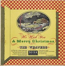 "THE WEAVERS We Wish You A Merry Christmas Decca 10"" 33 LP Holiday Album EX 1951"
