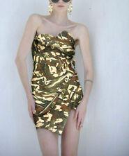 ALEXANDRE VAUTHIER $5,444 camo bustier zipper short micro mini dress 36-FR NEW