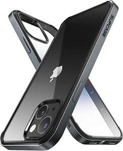 For iPhone 13, SUPCASE Metal Frame Case Bumper Shell Transparent Back Cover UK