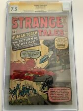 STRANGE TALES #105 1963 CGC 7.5 SS STAN LEE SIGNED FANTASTIC FOUR HIGHER GRADES