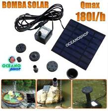 FUENTE ENERGIA SOLAR BOMBA MAX. 180L/H AGUA SUMERGIBLE ESTANQUE PANEL SOLAR 7V