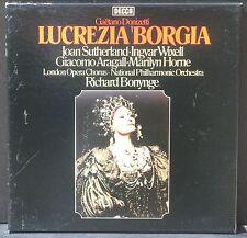 Donizetti Lucrezia Borgia Bonynge J.Sutherland M.Horne... 3 x LP NM/M, BX EX