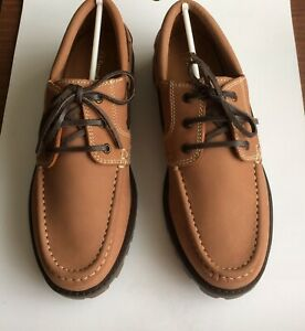 Samuel Windsor Men's Handmade Italian Leather Lace-up Boat Deck Shoes Brand New