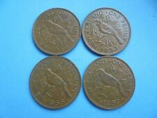 New Zealand, Penny's 1950 1953 1958 1959, Excellent Condition.