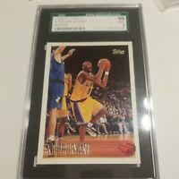 1996-97 Topps #138 Kobe Bryant RC Rookie Lakers HOF SGC  9 MINT (Centering 9.5)