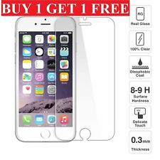 100% Genuine Tempered Glass Screen Protector Film For Apple iPhone 8 -NEW