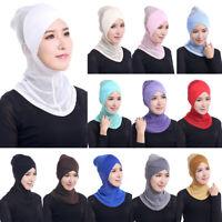 Women Islamic Muslim Hijab Scarf Headscarf Ninja Under Hat Neck Full Cover Cap