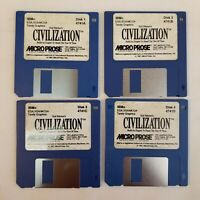 IBM Sid Meiers Civilization 3.5 Disk collectible 1-4 disk 1991 Tandy Graphics