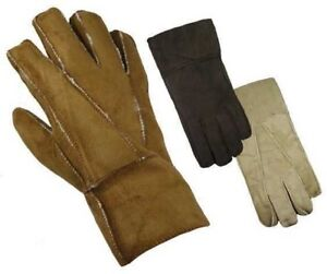 Mens Luxury 100% Suede Leather Winter Warm & Cosy Lined Gloves High Quality