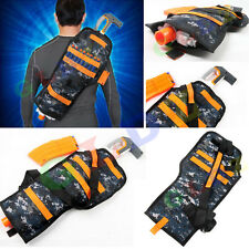 Tactical Back Holster Pouch Accessories for Nerf Gun Kids Outdoor CS Game EB