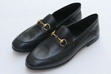 GUCCI 'Brixton' Black Leather Horsebit Convertible Women's Loafers Sz 36/ 6