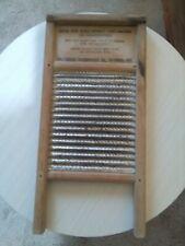 More details for vintage old wooden / metal wash board washboard