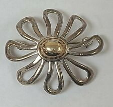 Brooch 18k Gold Sterling Silver 925 Tiffany Co Paloma Picasso Daisy Flower Pin