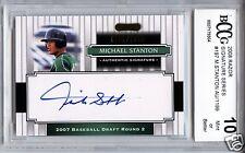 GIANCARLO STANTON MIKE Yankees 2008 Razor Auto 997/1199 rookie BCCG 10 MINT